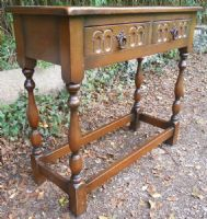Reproduction Oak Two Drawer Side Table